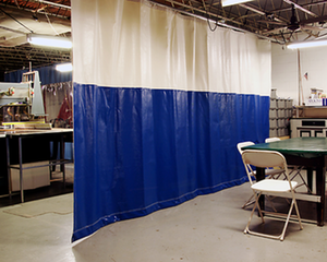Our industrial curtains provide the perfect partitioning solution!