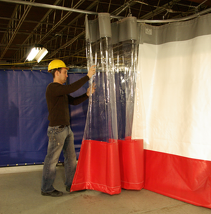 Vinyl Industrial Curtain Room Divider and Sliding Curtain Tracks