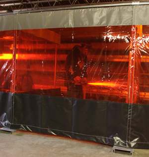 Our welding curtains provide protection from UV and near UV radiation plus debris.